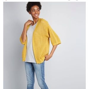 ModCloth mustard creation oversized cardigan xs